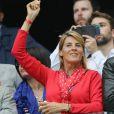 Nathalie Simon et son mari Tanguy Dadon au match de l'Euro 2016 France-Albanie au Stade Vélodrome à Marseille, le 15 juin 2016. © Cyril Moreau/Bestimage