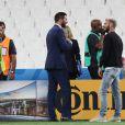 M. Pokora et André-Pierre Gignac au match de l'Euro 2016 France-Albanie au Stade Vélodrome à Marseille, le 15 juin 2016. © Cyril Moreau/Bestimage