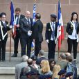 Le président de la République François Hollande lors de la cérémonie à l'occasion du 76ème anniversaire de l'appel du 18 juin 1940 au Mont-Valérien à Suresnes, le 18 juin 2016. © Lionel Urman/Bestimage