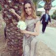 """""""Silvia Notargiacomo au mariage d'Alizée et Grégoire Lyonnet, le 18 juin 2016, en Corse"""""""