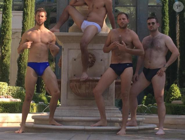 Calvin Harris et ses copains sur Instagram, juin 2016.