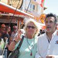 """Véronique de Villèle et Michel La Rosa à la 5ème fête du """"Pointu"""" au Grau d'Agde le 25 juin 2016. © Robert Fages / Bestimage"""