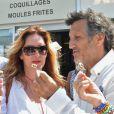 """Sandrine Alexi et Michel La Rosa à la 5ème fête du """"Pointu"""" au Grau d'Agde le 25 juin 2016. © Robert Fages / Bestimage"""