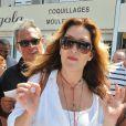 """Sandrine Alexi à la 5ème fête du """"Pointu"""" au Grau d'Agde le 25 juin 2016. © Robert Fages / Bestimage"""