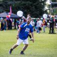 Semi-Exclusif - Le chanteur Grégoire (Boissenot) - People lors du tournoi de football Media Cup, un tournoi par équipe de production ou chaine de télévision, à Meudon. Le 2 juillet 2016