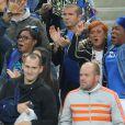 Isabelle (Mère d'Antoine Griezmann) et Yeo Pogba (Mère de Paul Pogba) lors du match du quart de finale de l'UEFA Euro 2016 France-Islande au Stade de France à Saint-Denis, France le 3 juillet 2016. © Cyril Moreau/Bestimage