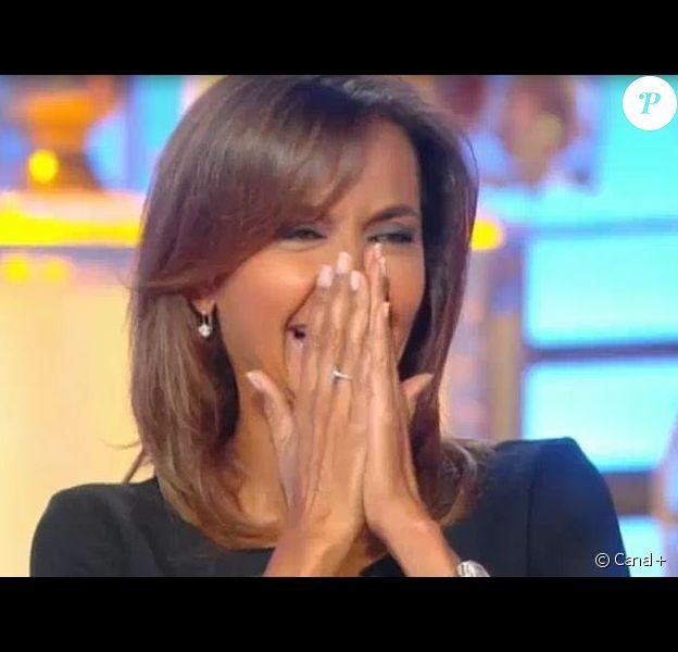 """Karine Le Marchand dans """"Salut les terriens"""", samedi 2 juillet 2016, sur Canal+"""
