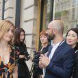 Julie Gayetarrive au 26, place Vendôme pour assister au défilé de haute joaillerie Boucheron (collection 26 Vendôme). Paris, lee 4 juillet 2016. © CVS-Veeren / Bestimage