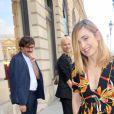 Julie Gayetquitte le 26, place Vendôme à l'issue de la présentation Boucheron. Paris, le 4 juillet 2016. © CVS-Veeren / Bestimage