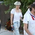 Paris Jackson et son copainarrivent à une fête privée au restaurant Nobu à Los Angeles, le 4 juillet 2016