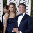 Sylvester Stallone et sa fille Sistine Rose Stallone - 73e cérémonie annuelle des Golden Globe Awards à Beverly Hills, le 10 janvier 2016. © Olivier Borde/Bestimage