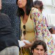 Laetitia Bernardini enceinte (Compagne de Yohan Cabaye) lors du match de l'Euro 2016 Allemagne-France au stade Vélodrome à Marseille, France, le 7 juillet 2016. © Cyril Moreau/Bestimage