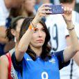 Jennifer Giroud (Femme de Olivier Giroud) lors du match de l'Euro 2016 Allemagne-France au stade Vélodrome à Marseille, France, le 7 juillet 2016. © Cyril Moreau/Bestimage