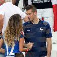 Morgan Schneiderlin et sa compagne Camille Sold lors du match de l'Euro 2016 Allemagne-France au stade Vélodrome à Marseille, France, le 7 juillet 2016. © Cyril Moreau/Bestimage