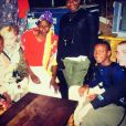 Madonna et ses enfants, Lourdes Leon, Rocco et David Banda et Mercy James sont en voyage humanitaire au Malawi. La famille pose avec Mama Sopfie. Photo publiée sur Instagram, le 4 juillet 2016