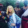 Madonna et ses enfants, Lourdes Leon, Rocco et David Banda et Mercy James sont en voyage humanitaire au Malawi. Photo publiée sur Instagram, le 6 juillet 2016
