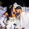 """Exclusif - La vidéo des fiançailles de Sarah Fraisou (""""Les Anges 8"""") avec Malik, la cérémonie s'est déroulée dans une salle des fêtes de la région parisienne en présence de leurs familles le 8 juillet 2016."""