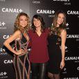 Francesca Antoniotti, Estelle Denis et Clio Pajczer - Soirée des animateurs du Groupe Canal+ au Manko à Paris. Le 3 février 2016.