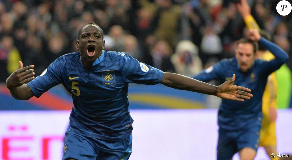 Mamadou Sakho lors de qualification pour la Coupe du Monde, France Vs Ukraine, au Stade de France à Saint-Denis le 19 novembre 2013.