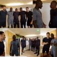 Innocenté, Mamadou Sakho a eu le droit de rendre visite aux Bleus à Clairefontaine avant la finale de l'Euro 2016, dimanche 10 juillet 2016.