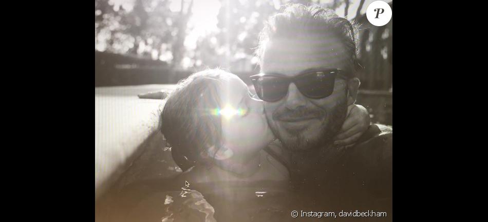 David Beckham souhaite un joyeux anniversaire à sa fille Harper sur sa page Instagram, le 10 juillet 2016