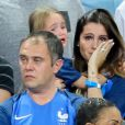 Marine Lloris (La Femme de Hugo Loris), et sa fille Anna-Rose après le match de la finale de l'Euro 2016 Portugal-France au Stade de France à Saint-Denis, France, le 10 juillet 2016. © Cyril Moreau/Bestimage