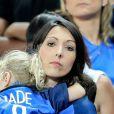 Jenifer Giroud (Femme de Olivier Giroud) et sa fille Jade après le match de la finale de l'Euro 2016 Portugal-France au Stade de France à Saint-Denis, France, le 10 juillet2016. © Cyril Moreau/Bestimage