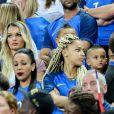 Ludivine Payet (Femme de Dimitri Payet) et Sephora (la compagne de Kingsley Coman) après le match de la finale de l'Euro 2016 Portugal-France au Stade de France à Saint-Denis, France, le 10 juillet2016. © Cyril Moreau/Bestimage