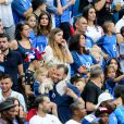 Erika Choperena (Compagne de Antoine Griezmann), Marine Lloris (La Femme de Hugo Loris), Ludivine Sagna (Femme de Bacary Sagna), Jennifer Giroud (Femme de Olivier Giroud) et Ludivine Payet (la femme de Dimitri Payet) lors du match de la finale de l'Euro 2016 Portugal-France au Stade de France à Saint-Denis, France, le 10 juillet2016. © Cyril Moreau/Bestimage
