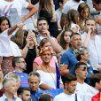 Malika Ménard, Alain et Isabelle (Parents d'Antoine Griezmann) et Erika Choperena (Compagne de Antoine Griezmann) lors du match de la finale de l'Euro 2016 Portugal-France au Stade de France à Saint-Denis, France, le 10 juillet2016. © Cyril Moreau/Bestimage