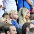 Ludivine Payet (la femme de Dimitri Payet) lors du match de la finale de l'Euro 2016 Portugal-France au Stade de France à Saint-Denis, France, le 10 juillet2016. © Cyril Moreau/Bestimage