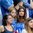 Marine Lloris (La Femme de Hugo Loris) et sa fille Anna-Rose lors du match de la finale de l'Euro 2016 Portugal-France au Stade de France à Saint-Denis, France, le 10 juillet2016. © Cyril Moreau/Bestimage