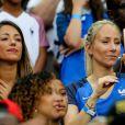 Camille Sold (Compagne de Morgan Schneiderlin) et Sandra Evra (Femme de Patrice Evra) lors du match de la finale de l'Euro 2016 Portugal-France au Stade de France à Saint-Denis, France, le 10 juillet2016. © Cyril Moreau/Bestimage