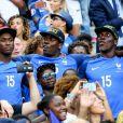 Florentin Pogba et Mathias Pogba (Frère de Paul Pogba) lors du match de la finale de l'Euro 2016 Portugal-France au Stade de France à Saint-Denis, France, le 10 juillet2016. © Cyril Moreau/Bestimage