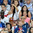 Malika Ménard avec en-dessous Isabelle Griezmann lors du match de la finale de l'Euro 2016 Portugal-France au Stade de France à Saint-Denis, France, le 10 juillet2016. © Cyril Moreau/Bestimage