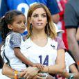 Isabelle Matuidi (la femme de Blaise Matuidi) et sa fille Naëlle lors du match de l'Euro 2016 Allemagne-France au stade Vélodrome à Marseille, France, le 7 juillet 2016. © Cyril Moreau/Bestimage