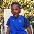 Kaïs, le fils de Moussa Sissoko encourage son papa sur Instagram pour la finale de l'Euro 2016. Juillet 2016.