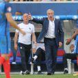 Didier Deschamps, Patrice Evra - Match de l'UEFA Euro 2016 France-Irlande au Stade des Lumières à Lyon, France le 26 juin 2016. © Cyril Moreau/Bestimage