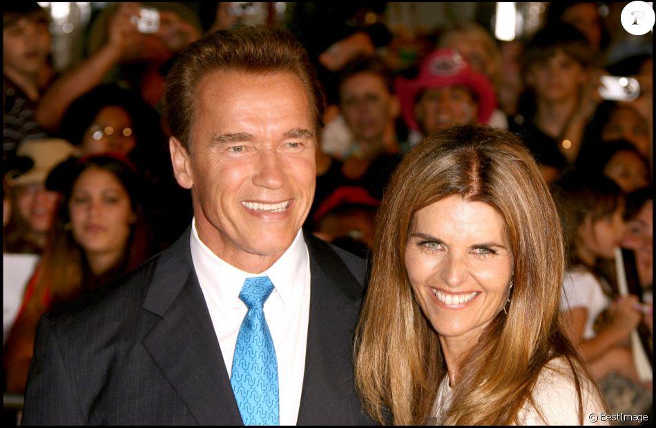 """Arnold Schwarzenegger et Maria Shriver à la première du film """"Pirates des Caraïbes 2"""" à Anaheim le 24 juin 2006"""