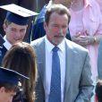 Arnold Schwarzenegger et Maria Shriver entourés de leur fils Patrick pour sa remise de diplôme le 1er juin 2012 à Los Angeles