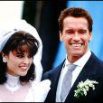 ARNOLD SCHWARZENEGGER ET MARIA SHRIVER, LE JOUR DE LEUR MARIAGE EN 1986