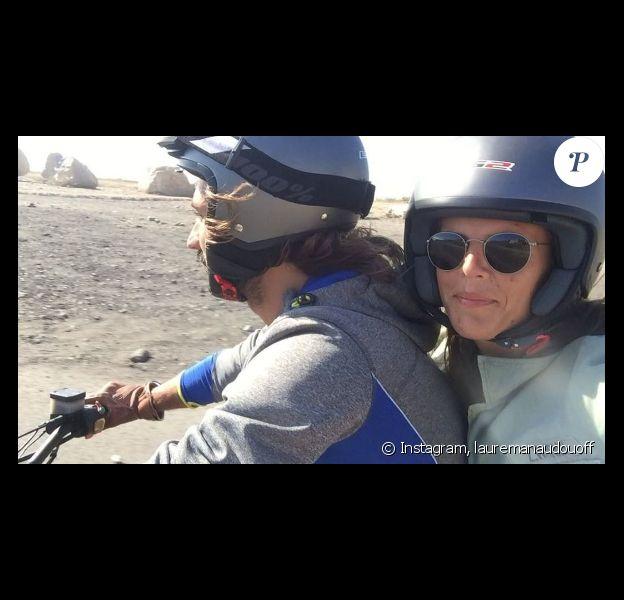 Laure Manaudou et son chéri Jeremy Frerot font de la moto à Marseille. Photo publiée sur Instagram, le 19 juillet 2016