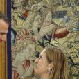Le roi Felipe VI d'Espagne en audience avec la présidente du congrès des députés Ana Pastor à Madrid le 20 juillet 2016