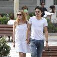 Lindsay Lohan et son compagnon Egor Tarabasov se promènent dans les rues de Madrid. Le 10 juin 2016