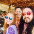 Lindsay Lohan et son fiancé Egor Tarabasov en vacances avec le Dj Steve Aoki. Photo publiée sur Instagram à la mi juillet 2016
