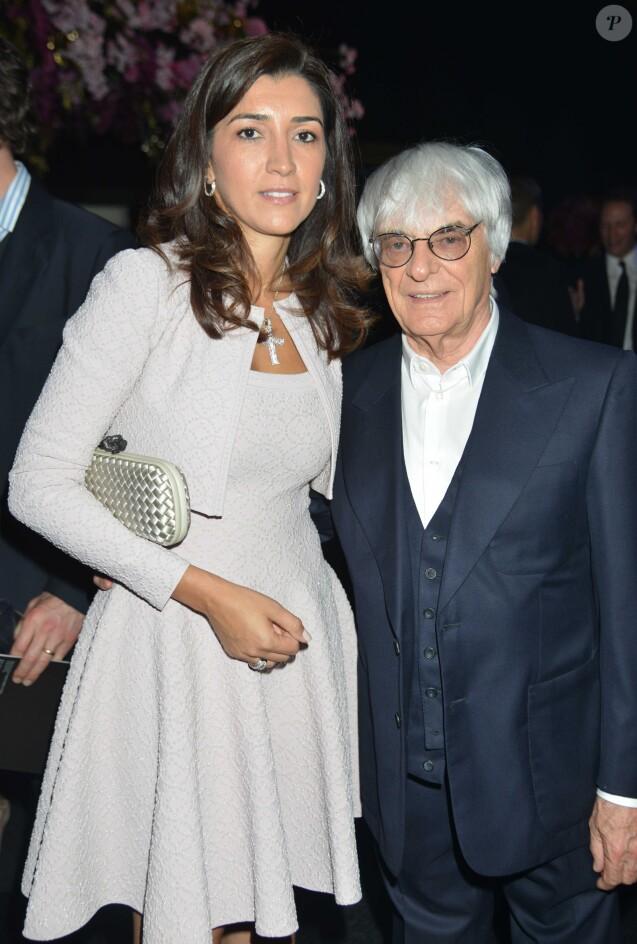 """Fabiana Flosi et Bernie Ecclestone - SOIREE CARITATIVE """"F1"""" AU PROFIT DES ENFANTS DE L'HOPITAL GREAT ORMOND STREET A LONDRES, LE 4 JUILLET 2012."""