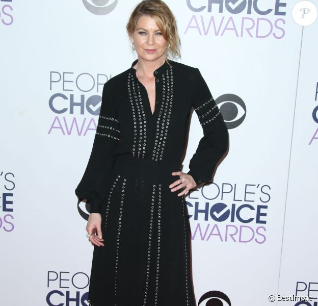 Ellen Pompeo aux People Choice Awards 2016 à Los Angeles le 6 janvier 2015.