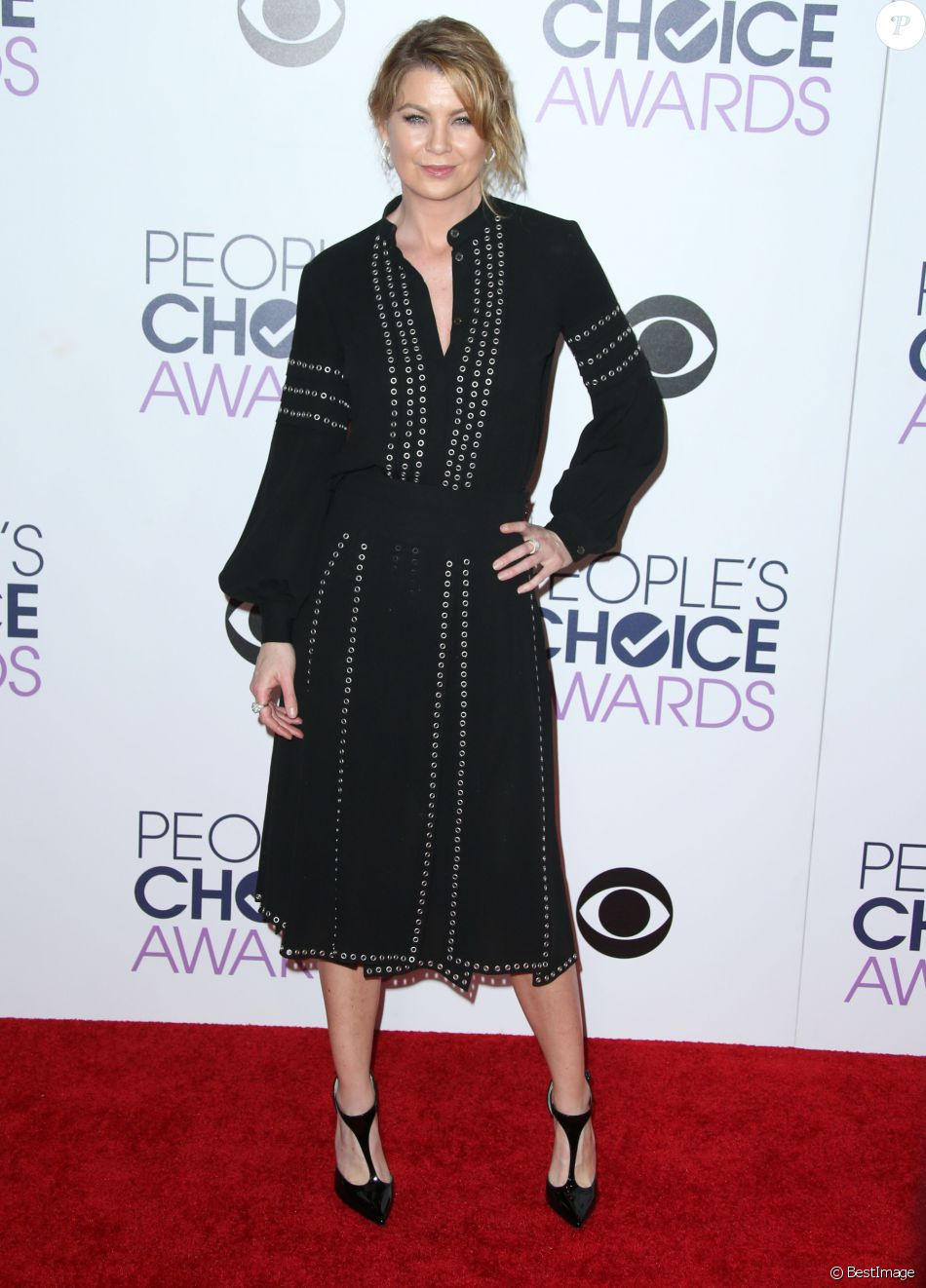 Ellen Pompeo aux People Choice Awards 2016 à Los Angeles le 6 janvier 2015.