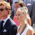 Pierre Casiraghi et Beatrice Borromeo - Premier jour des célébrations des 10 ans de règne du prince Albert II de Monaco à Monaco, le 11 juillet 2015.