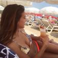 Marine Lorphelin divine en bikini à Sainte-Maxime, le 30 juillet 2016.